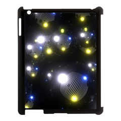 Abstract Dark Spheres Psy Trance Apple Ipad 3/4 Case (black)