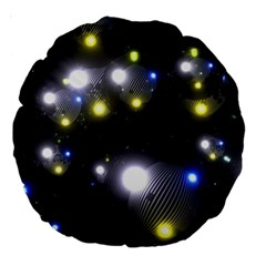 Abstract Dark Spheres Psy Trance Large 18  Premium Round Cushions