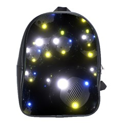 Abstract Dark Spheres Psy Trance School Bags (xl)