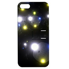 Abstract Dark Spheres Psy Trance Apple Iphone 5 Hardshell Case With Stand