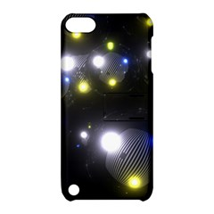 Abstract Dark Spheres Psy Trance Apple Ipod Touch 5 Hardshell Case With Stand