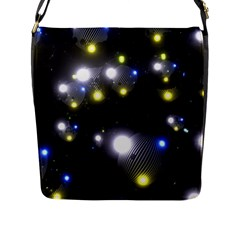 Abstract Dark Spheres Psy Trance Flap Messenger Bag (l)