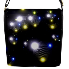 Abstract Dark Spheres Psy Trance Flap Messenger Bag (s)