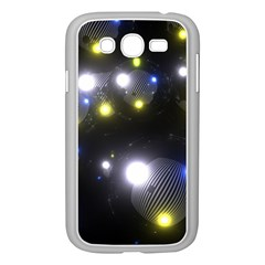 Abstract Dark Spheres Psy Trance Samsung Galaxy Grand Duos I9082 Case (white)