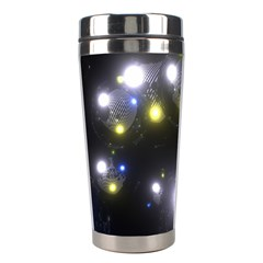 Abstract Dark Spheres Psy Trance Stainless Steel Travel Tumblers