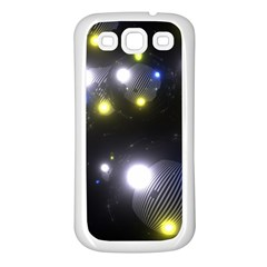 Abstract Dark Spheres Psy Trance Samsung Galaxy S3 Back Case (white)