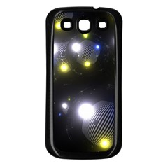 Abstract Dark Spheres Psy Trance Samsung Galaxy S3 Back Case (black)