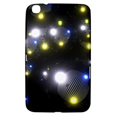 Abstract Dark Spheres Psy Trance Samsung Galaxy Tab 3 (8 ) T3100 Hardshell Case
