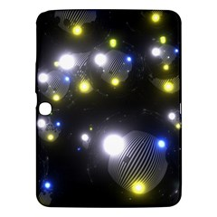 Abstract Dark Spheres Psy Trance Samsung Galaxy Tab 3 (10 1 ) P5200 Hardshell Case