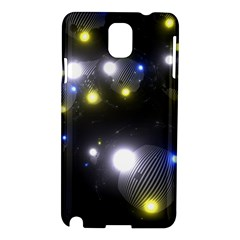 Abstract Dark Spheres Psy Trance Samsung Galaxy Note 3 N9005 Hardshell Case