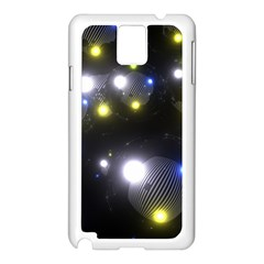 Abstract Dark Spheres Psy Trance Samsung Galaxy Note 3 N9005 Case (white)