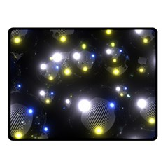 Abstract Dark Spheres Psy Trance Double Sided Fleece Blanket (small)