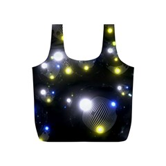 Abstract Dark Spheres Psy Trance Full Print Recycle Bags (s)