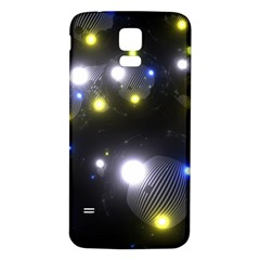 Abstract Dark Spheres Psy Trance Samsung Galaxy S5 Back Case (white)
