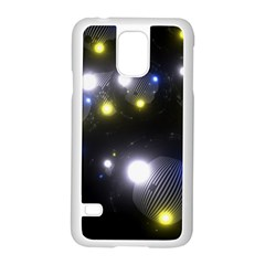 Abstract Dark Spheres Psy Trance Samsung Galaxy S5 Case (white)