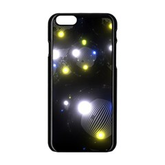 Abstract Dark Spheres Psy Trance Apple Iphone 6/6s Black Enamel Case
