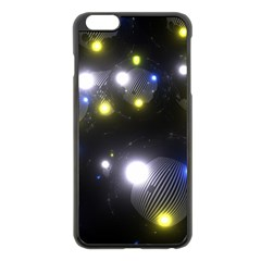 Abstract Dark Spheres Psy Trance Apple Iphone 6 Plus/6s Plus Black Enamel Case
