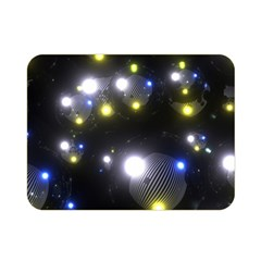 Abstract Dark Spheres Psy Trance Double Sided Flano Blanket (mini)