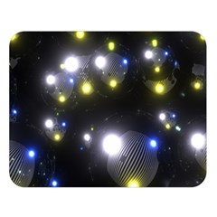 Abstract Dark Spheres Psy Trance Double Sided Flano Blanket (large)