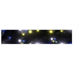 Abstract Dark Spheres Psy Trance Flano Scarf (small)