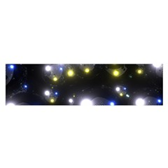 Abstract Dark Spheres Psy Trance Satin Scarf (oblong)