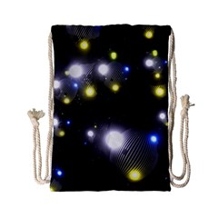 Abstract Dark Spheres Psy Trance Drawstring Bag (small)