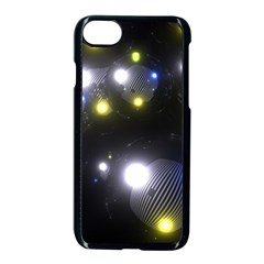 Abstract Dark Spheres Psy Trance Apple Iphone 7 Seamless Case (black)