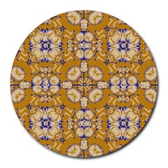 Abstract Elegant Background Card Round Mousepads