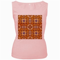 Abstract Elegant Background Card Women s Pink Tank Top