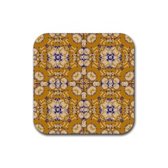 Abstract Elegant Background Card Rubber Coaster (square)