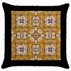 Abstract Elegant Background Card Throw Pillow Case (black)