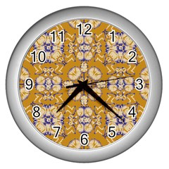 Abstract Elegant Background Card Wall Clocks (silver)