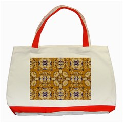 Abstract Elegant Background Card Classic Tote Bag (red)
