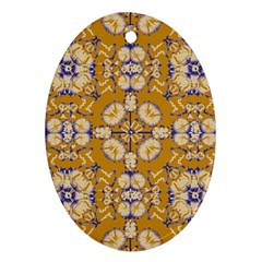 Abstract Elegant Background Card Oval Ornament (two Sides)