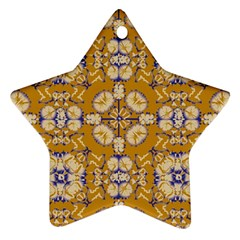 Abstract Elegant Background Card Star Ornament (two Sides)