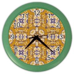 Abstract Elegant Background Card Color Wall Clocks