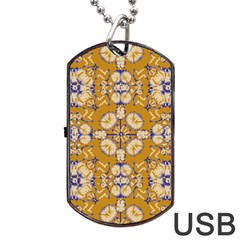 Abstract Elegant Background Card Dog Tag Usb Flash (two Sides)