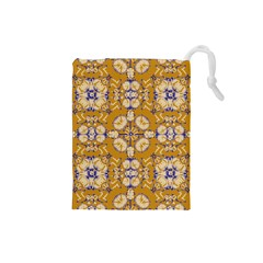Abstract Elegant Background Card Drawstring Pouches (small)