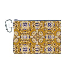 Abstract Elegant Background Card Canvas Cosmetic Bag (m)