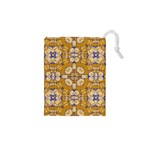 Abstract Elegant Background Card Drawstring Pouches (XS)  Front