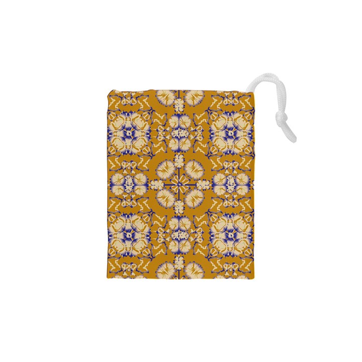 Abstract Elegant Background Card Drawstring Pouches (XS)