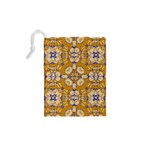 Abstract Elegant Background Card Drawstring Pouches (XS)  Back