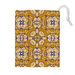 Abstract Elegant Background Card Drawstring Pouches (Extra Large)