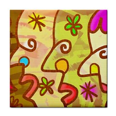 Abstract Faces Abstract Spiral Tile Coasters