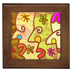 Abstract Faces Abstract Spiral Framed Tiles
