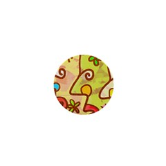 Abstract Faces Abstract Spiral 1  Mini Buttons