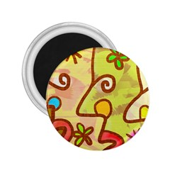 Abstract Faces Abstract Spiral 2 25  Magnets