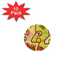 Abstract Faces Abstract Spiral 1  Mini Buttons (10 Pack)