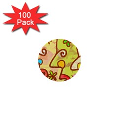 Abstract Faces Abstract Spiral 1  Mini Buttons (100 Pack)