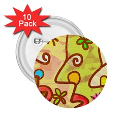 Abstract Faces Abstract Spiral 2 25  Buttons (10 Pack)